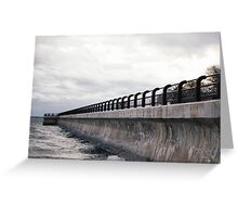 Breakwater at R.C Harris Greeting Card