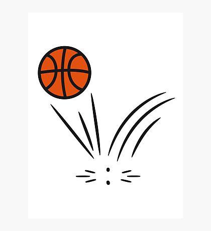 Basketball sports ball jump Photographic Print