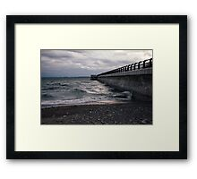 Dark Beach, Lake Ontario Framed Print
