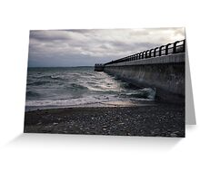 Dark Beach, Lake Ontario Greeting Card