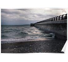 Dark Beach, Lake Ontario Poster