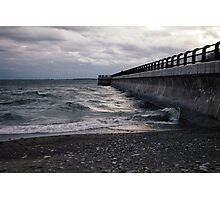 Dark Beach, Lake Ontario Photographic Print