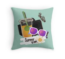 Summer Vibes - Starbucks + Jams Throw Pillow