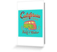 California Surf Rider Beach - Boogie Burn Burns it up! Greeting Card