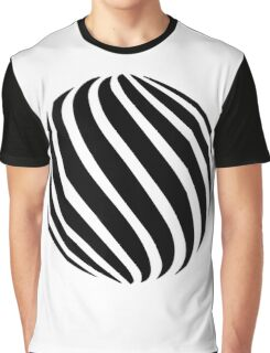 Abstract swirl sphere - version 1 - black Graphic T-Shirt