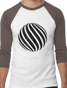 Abstract swirl sphere - version 1 - black Men's Baseball ¾ T-Shirt