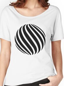 Abstract swirl sphere - version 1 - black Women's Relaxed Fit T-Shirt