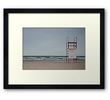No Lifeguard On Duty Framed Print