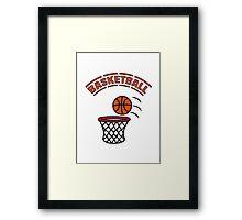 Basketball play basket Framed Print