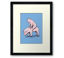 Piggy Back Ride Framed Print