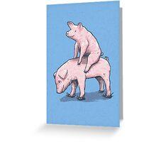Piggy Back Ride Greeting Card