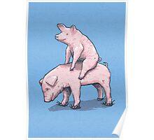 Piggy Back Ride Poster