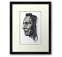 Old Indian Man Framed Print