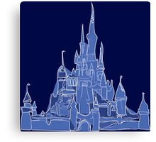 Disney Castle Canvas Print