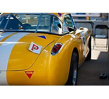 1956 Corvette Rear View Photographic Print