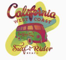 California Surf Rider by Boggie Burn - Whack Beach Graphics! One Piece - Short Sleeve