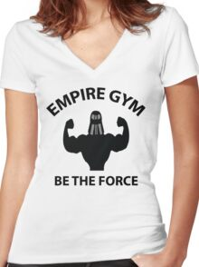 Empire Gym - Be The Force Women's Fitted V-Neck T-Shirt