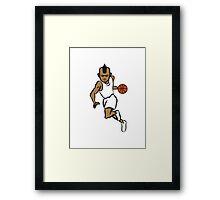 Basketball basket sports players Framed Print