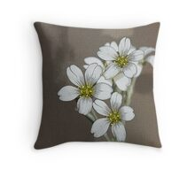 Tote Bag, Snow In Summer Flower - Artistically Enhanced Throw Pillow
