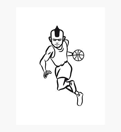 Basketball basket sports players Photographic Print