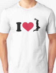 I love Basketball player T-Shirt