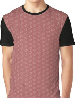 Heart Pattern Red Graphic T-Shirt