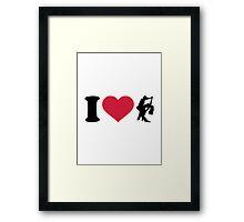 I love dancing couple Framed Print