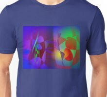 Two Worlds Blue and Red Unisex T-Shirt
