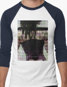 Woman In Corset Men's Baseball ¾ T-Shirt