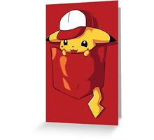 Pikachu in pocket Greeting Card