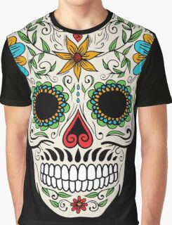 Floral Sugar Skull Graphic T-Shirt