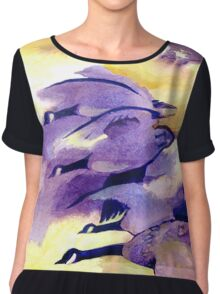 Flying Home - Canada Geese Chiffon Top