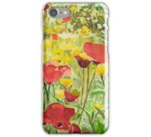 Poppies and Daisies iPhone Case/Skin
