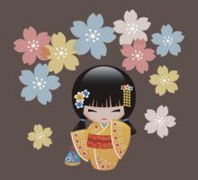 Japanese Summer Kokeshi Doll Baby Tee