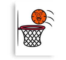 Basketball basket pleasure sports Canvas Print