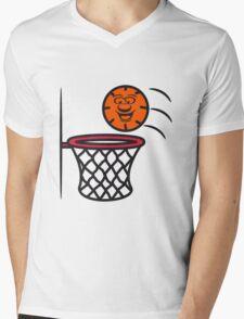 Basketball basket pleasure sports Mens V-Neck T-Shirt