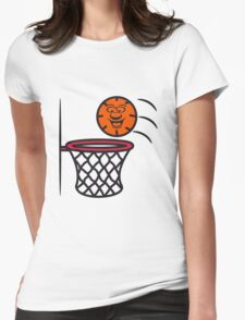 Basketball basket pleasure sports Womens Fitted T-Shirt