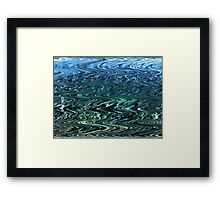 Oh! Hai! -Blue Green Wave Framed Print