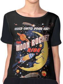 Rocket Moon Ride (vintage) Chiffon Top