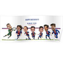 FCB Barcelona Stars- Happy Birthday! Poster