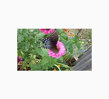 Butterfly on Zinnias Unisex T-Shirt