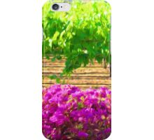 Vineyard with Bouganvillea iPhone Case/Skin