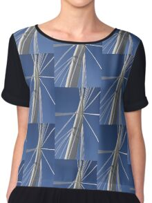 Abstract Bridge Lines, Winnipeg, Manitoba, Canada  Chiffon Top