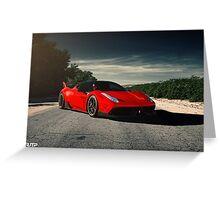 Custom Ferrari 458 Greeting Card