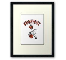 Basketball warriors player ball sports Framed Print