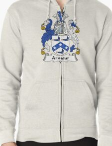 Armour Coat of Arms / Armour Family Crest Zipped Hoodie