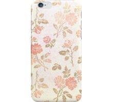 Grungy Pink Flowers iPhone Case/Skin