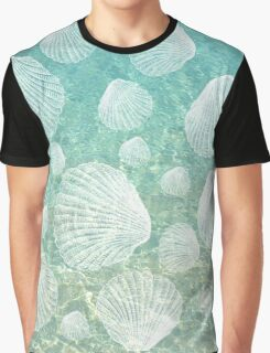 Sea Shells and Clear Water, #redbubble, #abstract, #ocean, #pattern Graphic T-Shirt