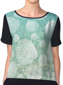 Sea Shells and Clear Water, #redbubble, #abstract, #ocean, #pattern Chiffon Top