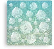 Sea Shells and Clear Water, #redbubble, #abstract, #ocean, #pattern Canvas Print